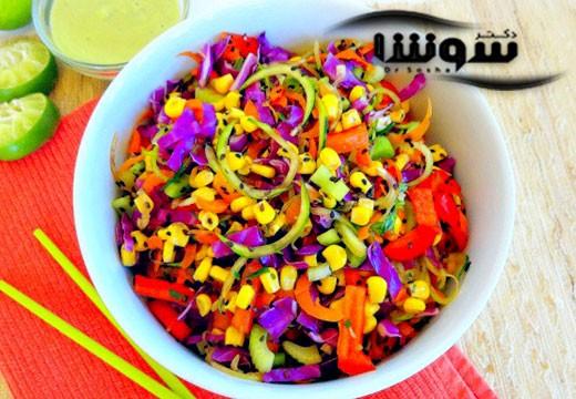 طرز تهیه دتاکس سبزیجات خام و تند