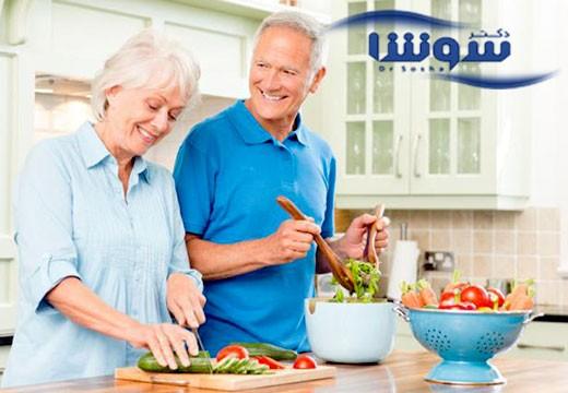نقش غذا خوردن در فرآیند پیری