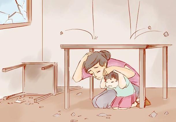 هنگام وقوع زلزله