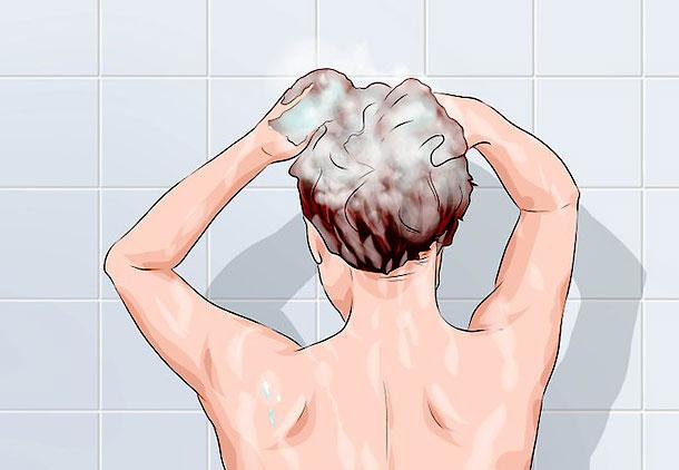 مراقبت بعد از کاشت مو با شستن موها