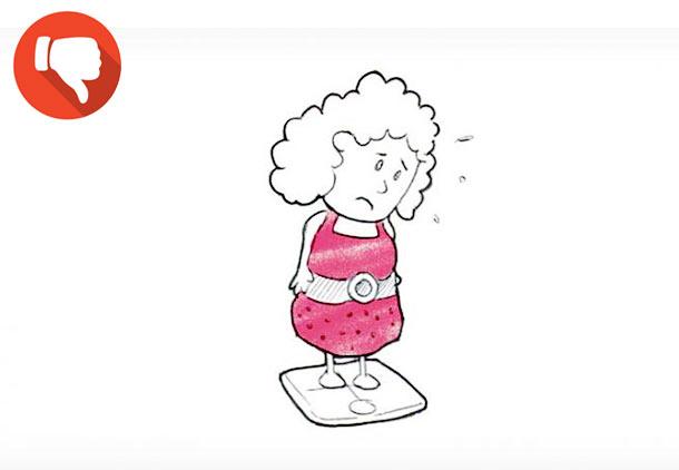 باور غلط شماره 7 در مورد کاهش وزن : کاهش نیم کیلوگرم در روز!