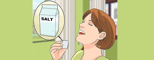 رفع التهاب لثه با محلول نمکی