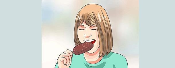 درمان مشکل التهاب دندان با خوردن مواد غذایی سرد