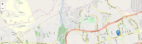 مرکز درمانی روی نقشه